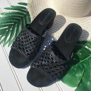 Aerosoles Woven Braided Mules Heeled Slide Sandals